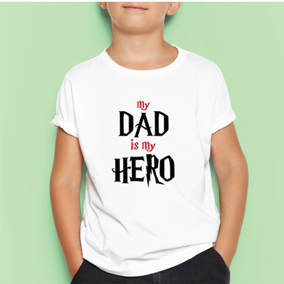 Picture of My Dad Is My Hero Kids T-shirt