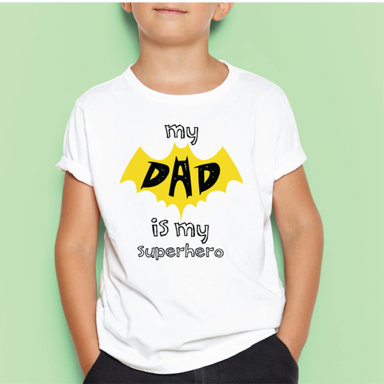 Picture of My Dad Is My Superhero Kids T-shirt