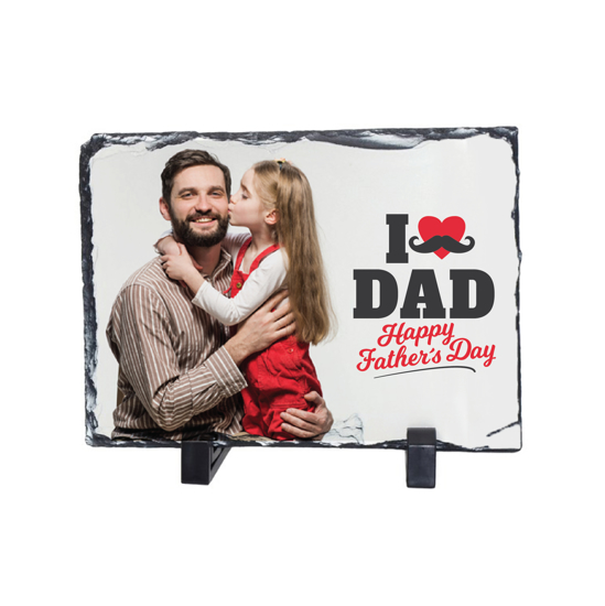 Picture of I Love Dad Happy Father's Day Photo Slate