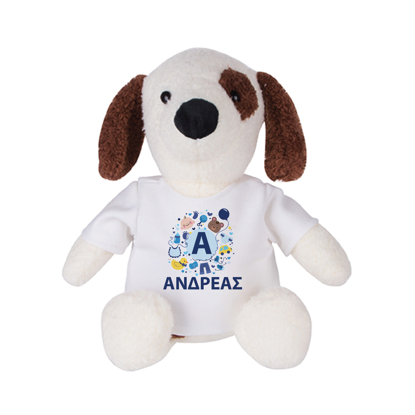 Picture of Dog with Illustration Plush Toy