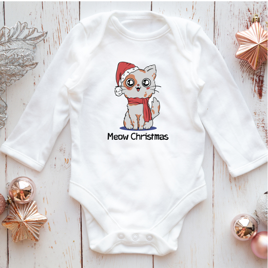Picture of Meow Christmas Baby Bodysuit