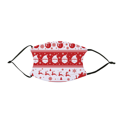 Picture of Christmas Pattern Red & White Face Mask