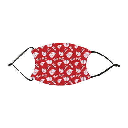 Picture of Santa Claus Pattern Red Face Mask