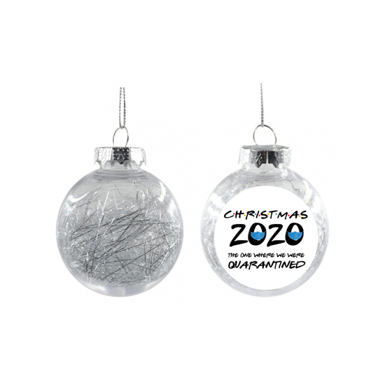 Picture of Friends Silver Christmas Ball Ornament
