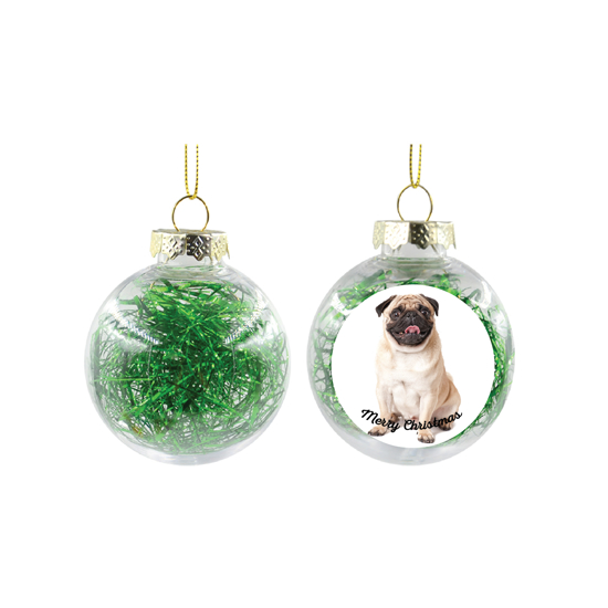 Picture of Merry Christmas Green Christmas Ball Ornament