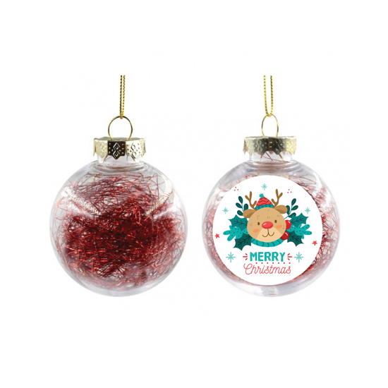 Picture of Merry Christmas Red Christmas Ball Ornament