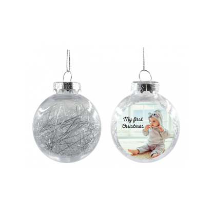 Picture of My First Christmas Silver Christmas Ball Ornament