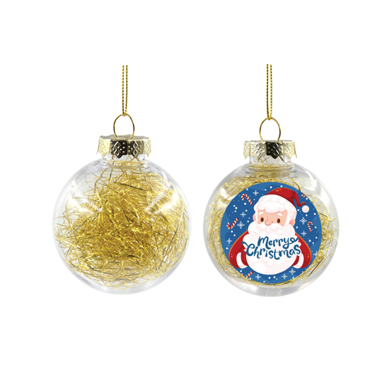 Picture of Santa Claus Gold Christmas Ball Ornament