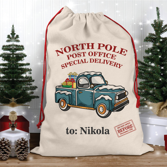 Picture of North Pole Christmas Sack With Car