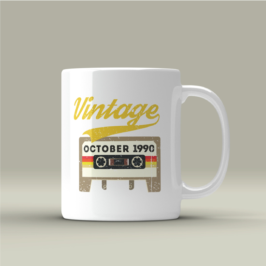 Picture of Vintage Month-Year Mug