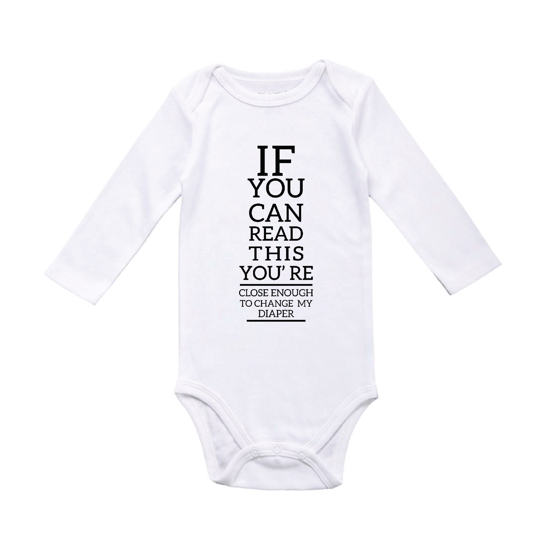 Picture of If You Can Read This.. Change Diaper Baby Bodysuit