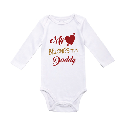 Picture of My Heart Belongs to Daddy Baby Bodysuit