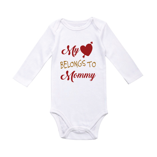 Picture of My Heart Belongs to Mommy Baby Bodysuit