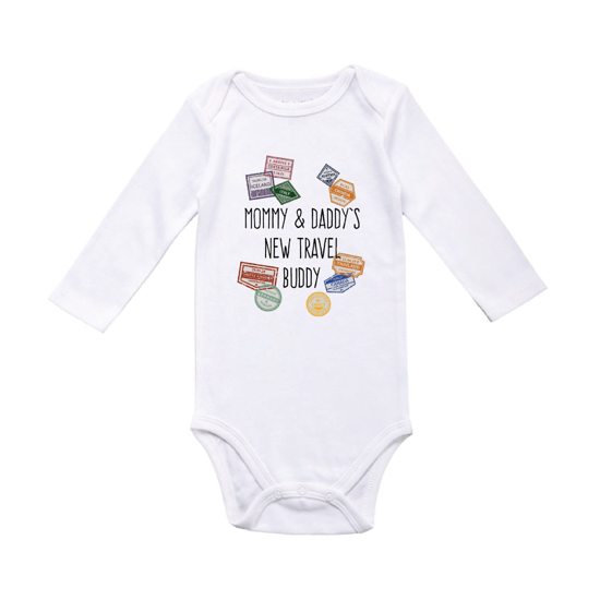 Picture of Mommy & Daddy's New Travel Buddy Baby Bodysuit