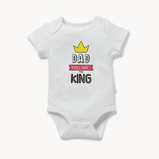 Picture of Dad You Are The King Baby Bodysuit