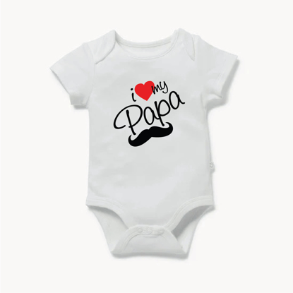 Picture of I Love my Papa Baby Bodysuit