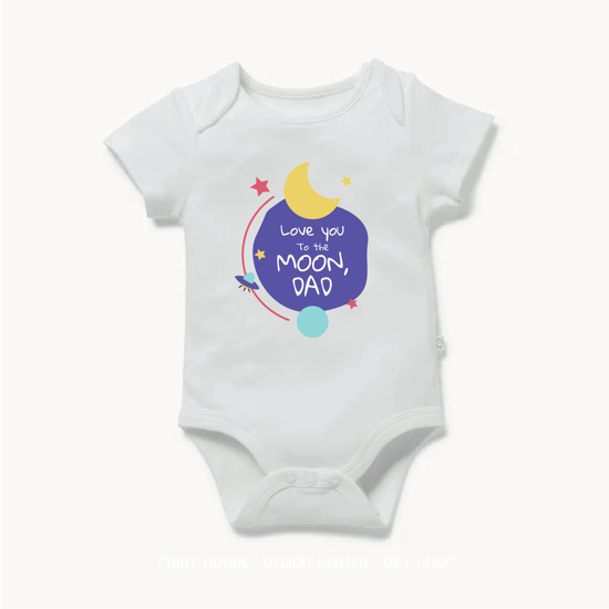 Picture of Love You To The Moon Dad Baby Bodysuit