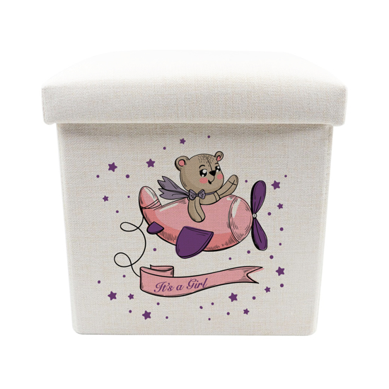 Picture of It's a Girl Toy Box - Storage Stool