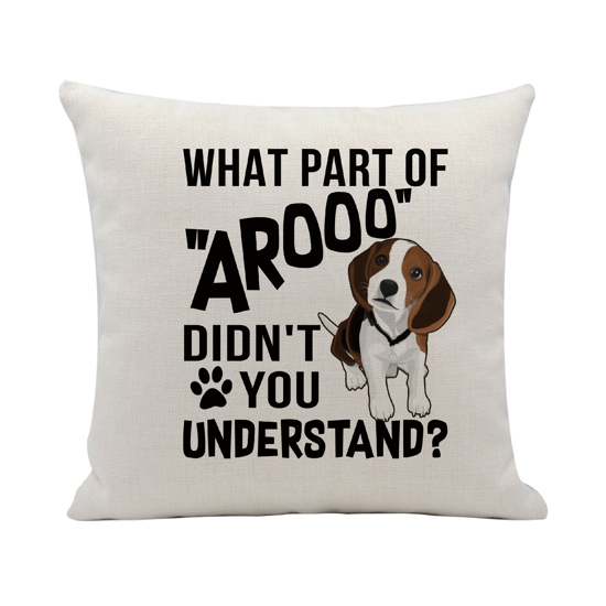 Picture of What Part of Arooo Pillow