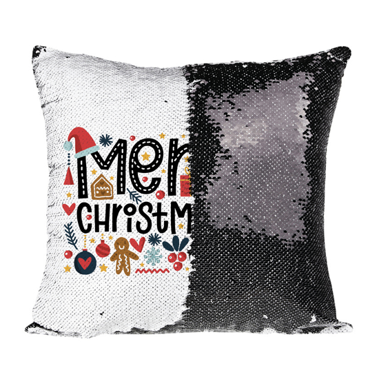 Picture of Merry Christmas Black Magic Pillow