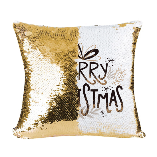 Picture of Merry Christmas Gold Magic Pillow