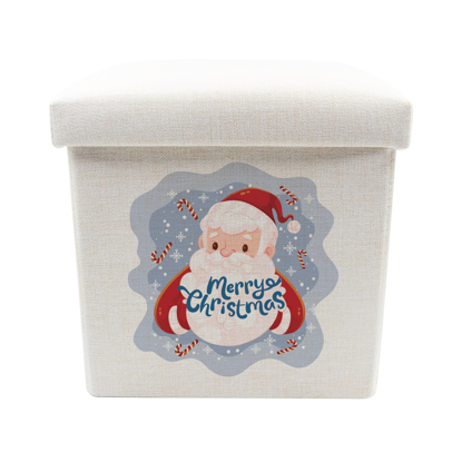 Picture of Merry Christmas Santa Claus Toy Box - Storage Stool