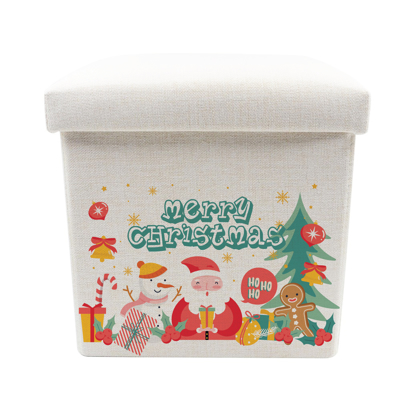 Picture of Merry Christmas Pattern Toy Box - Storage Stool