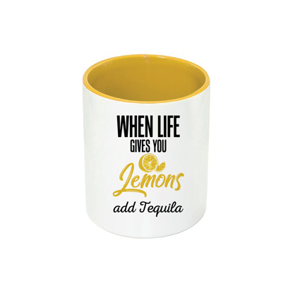 Picture of When Life Gives You Lemon Yellow Pencil Case