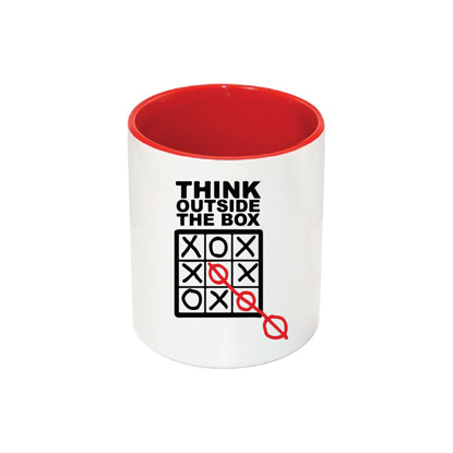 Picture of Think Outside The Box Red Pencil Case