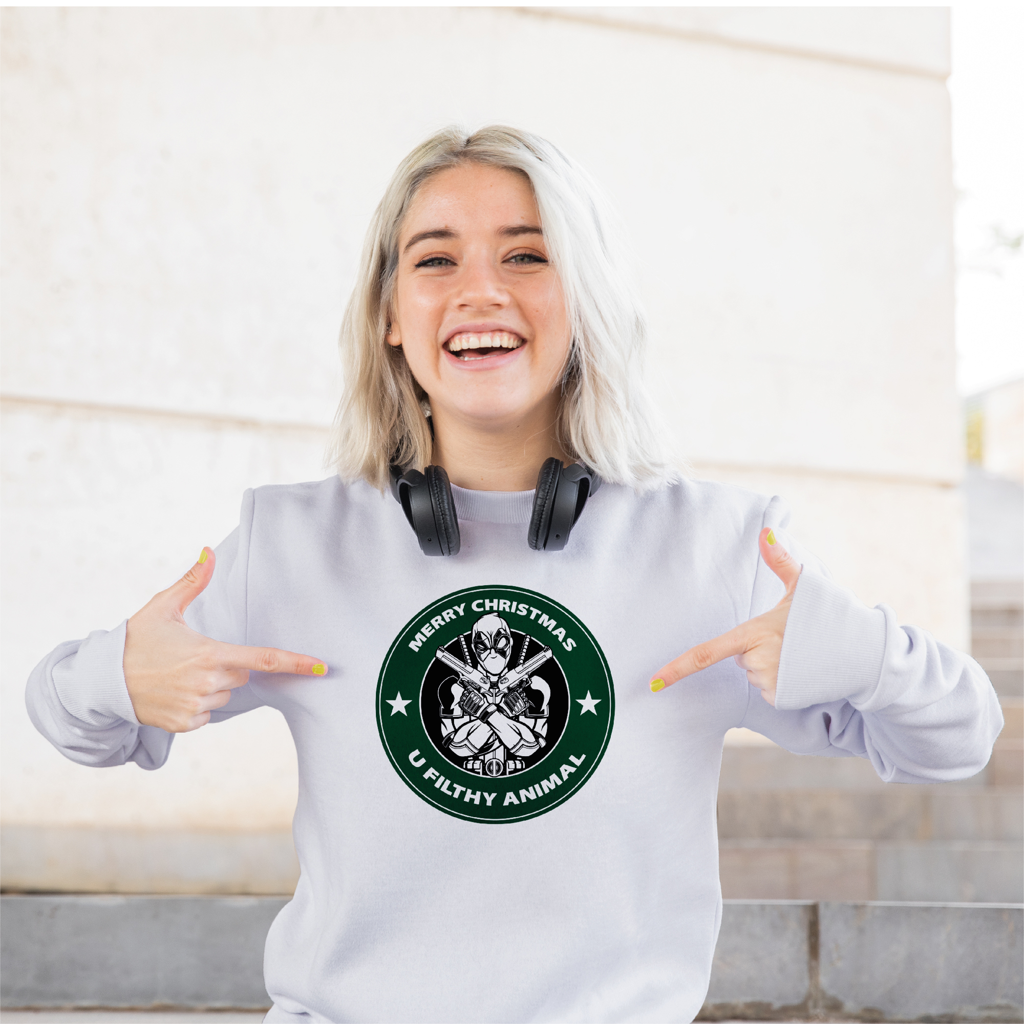 Picture of Merry Christmas You Filthy Animal Sweatshirt