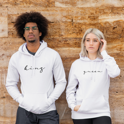 Picture of King-Queen Calligraphy Hoodie Set