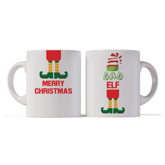 Picture of Merry Christmas Dad Elf Mug