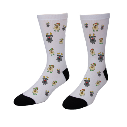 Picture of Christmas Pugs Socks