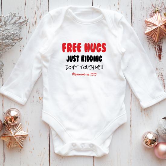 Picture of Free Hugs Quarantine Baby Bodysuit