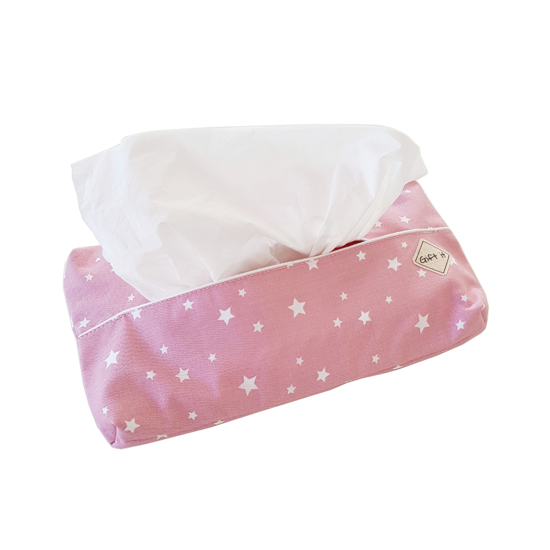 Picture of Pink with Stars Cotton Tissue Cover