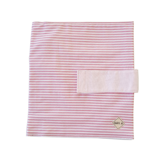 Picture of Pink with Stripes Cotton Diapers Pouch
