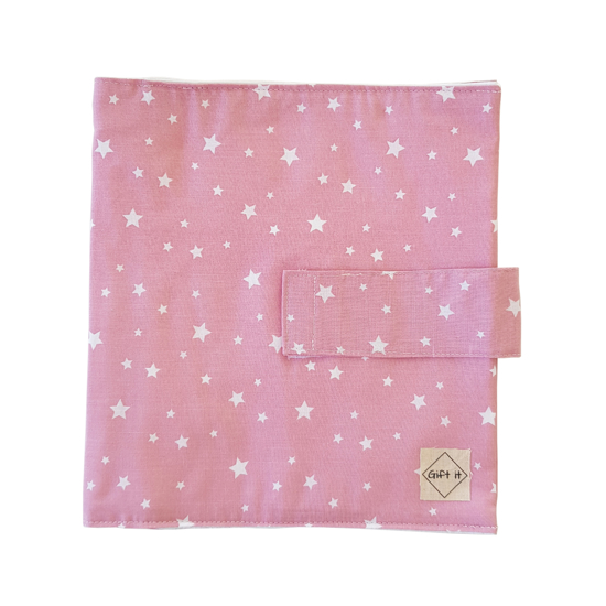 Picture of Pink with Stars Cotton Diapers Pouch