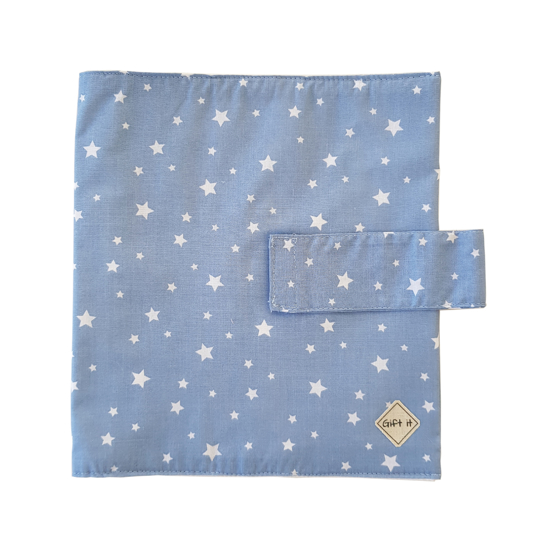 Picture of Blue with Stars Cotton Diapers Pouch