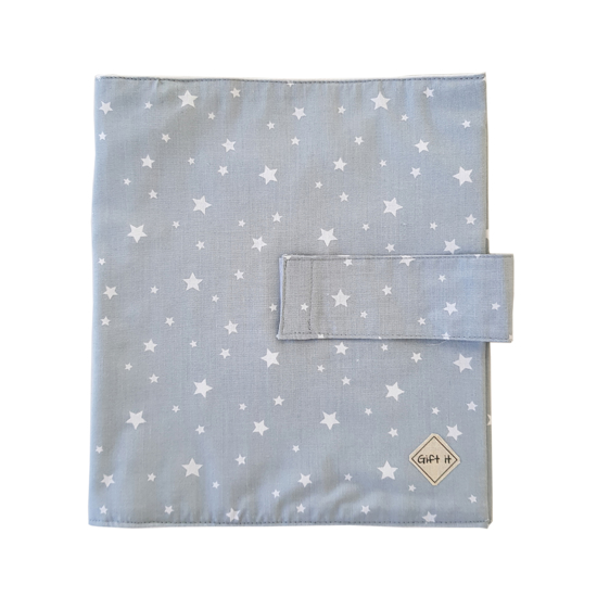 Picture of Light Blue with Stars Cotton Diapers Pouch