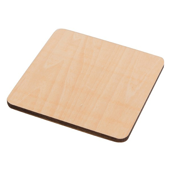Picture of Natural Wood Square Coaster