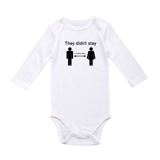 Picture of They Didn't Stay 2 Meters Apart Baby Bodysuit