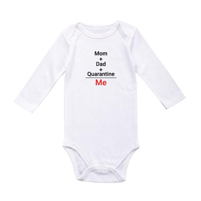 Picture of Mom + Dad + Quarantine = Me Baby Bodysuit