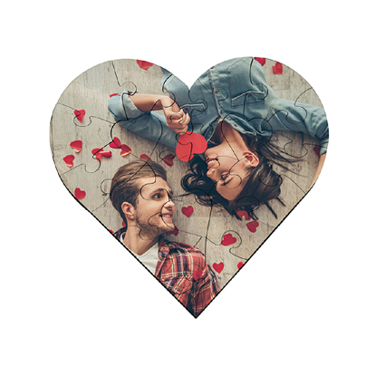 Picture of Heart Puzzle with Photograph