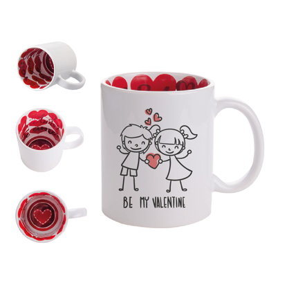 """Picture of Be My Valentine - """"I Love You"""" Inner Mug"""