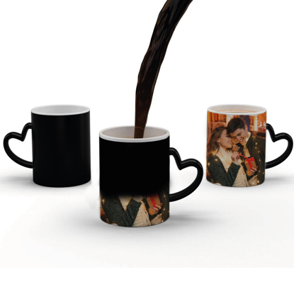 Picture of Magic Mug with Heart Handle with Photograph