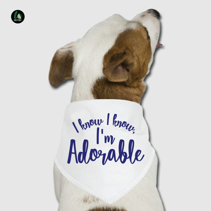 Picture of I Know, I Know, I'm Adorable Pet Bandana