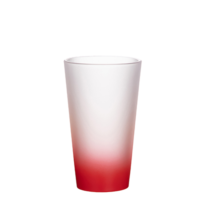 Picture of Red Frosted Latte Glass Mug