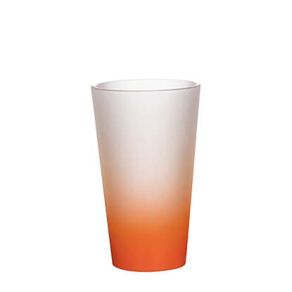 Picture of Orange Frosted Latte Glass Mug