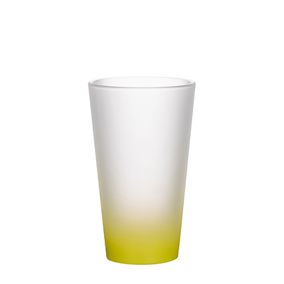 Picture of Yellow Frosted Latte Glass Mug