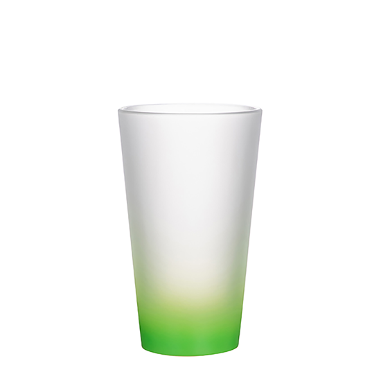 Picture of Green Frosted Latte Glass Mug